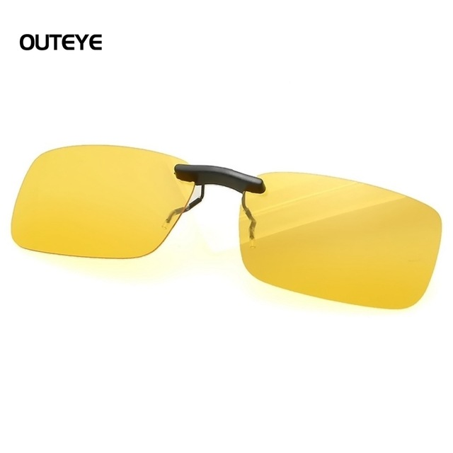 קליפ למשקפיים לנהיגה בלילה ,נגד סינוור אורות , בסגנון משקפי גוגל